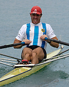 2005 FISA Rowing World Cup Munich,GERMANY. 18.06.2005; ARG M1X  Santiigo Fernandez..Photo  Peter Spurrier. .email images@intersport-images...[Mandatory Credit Peter Spurrier/ Intersport Images] Rowing Course, Olympic Regatta Rowing Course, Munich, GERMANY