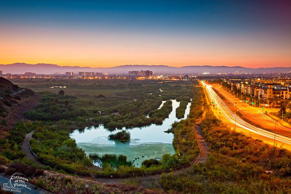 Ballona Wetlands and Playa Vista Development, Playa Del Rey, Los Angeles, California, USA