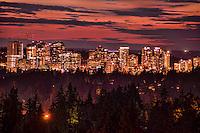 Bellevue Skyline with Burnt Sunset