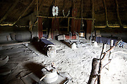 Interior Iron Age celtic house Castell Henllys, Pembrokeshire, Wales