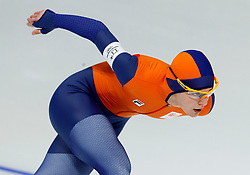 February 12, 2018 - Gangneung, South Korea - Marrit Leenstra of the Netherlands wins the Bronze medal in the WomenÃ•s 1500M Speed Skating at the PyeongChang 2018 Winter Olympic Games at Gangneung Oval on Monday February 12, 2018. (Credit Image: © Paul Kitagaki Jr. via ZUMA Wire)