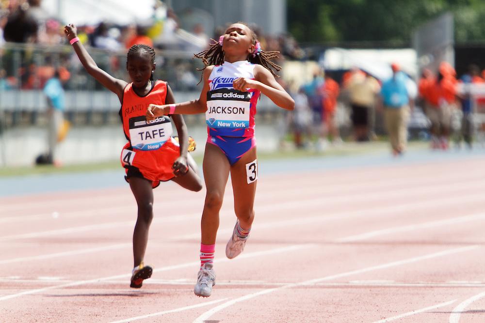 Samsung Diamond League adidas Grand Prix track & field; 100 meters Fastest Girls in NY, Taye, Jackson