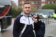 AFC Wimbledon midfielder Dean Parrett (18) arriving during the EFL Sky Bet League 1 match between AFC Wimbledon and Northampton Town at the Cherry Red Records Stadium, Kingston, England on 10 February 2018. Picture by Matthew Redman.