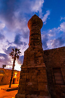 The archaeological site of Caesarea (it was the capital of the Roman province of Judea, Mediterranean Sea, Israel.