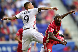 September 22, 2018 - Harrison, New Jersey, USA - New York Red Bulls Forward  BRADLEY WRIGHT-PHILLIPS (99) and Toronto FC Defender GREGORY VAN DER WIEL (9) are seen at Red Bull Arena in Harrison New Jersey New York defeats Toronto 2 to 0 (Credit Image: © Brooks Von Arx/ZUMA Wire)