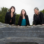 29.08. 2017.                                                   <br /> A new scholarship, the Roibeárd Thornton Memorial-Janssen Scholarship, was launched at the University of Limerick, named in memory of Dr Roibeárd Thornton, a graduate of the University. Dr Thornton, who had been working with Janssen Pharmaceuticals in Cork for over 4 years, had just returned to Limerick with his family when he was tragically killed in a car crash in January 2016.<br /> <br /> Pictured at the event were, Sarah Hartnett, UL Foundation, Scholarship recipient, Niamh Phelan and Dr. Jakki Cooney, Dept. Biological Sciences, UL.<br /> <br /> <br /> A special seat using rock from the family land of Dr Roibeárd Thornton, was commissioned by his UL science family and brought to campus as a permanent reminder of his gentle soul. It is positioned close to Plassey House overlooking a grass valley with the River Shannon in view. Picture: Alan Place<br /> <br /> <br /> For more information, contact:<br /> Sarah Hartnett, University of Limerick Foundation Tel: 086-3872863; Email: sarah.hartnett@ul.ie