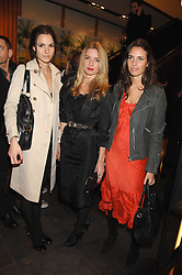 Left to right, FRAN HICKMAN, ANNABELLE WALLIS and MARINA HANBURY at a party hosted by Mulberry to celebrate the publication of The Meaning of Sunglasses by Hadley Freeman held at Mulberry 41-42 New Bond Street, London on 14th February 2008.<br /><br />NON EXCLUSIVE - WORLD RIGHTS