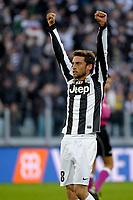 Claudio Marchisio esulta , goal celebratio , Juventus<br /> Calcio Juventus vs Atalanta<br /> Serie A - Torino 16/12/2012 Juventus Stadium <br /> Football Calcio 2012/2013<br /> Foto Federico Tardito Insidefoto