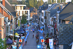 August 3, 2018 - Putte, BELGIUM - Illustration picture shows the pack of riders in action during the 3rd edition of the 'Natourcriterium Putte' cycling event, Friday 03 August 2018 in Putte. The contest is a part of the traditional 'criteriums', local races in which mainly cyclists who rode the Tour de France compete. BELGA PHOTO LUC CLAESSEN (Credit Image: © Luc Claessen/Belga via ZUMA Press)