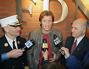 l to r: Salvatore Cassano, Denis Leary and Nicholas Scoppetta at The Leary FireFighters Foundation dedicates High-Rise Simulator in New York City at The FDNY Training Academy on Randall's Island on March 19, 2009..The Leary Firefighters Foundation, in partnership with The FDNY Foundation dedicates a state-of-art High Rise Training Simulation Facility. The first and only of its in the kind in the country, the simulator will help firefighters improve their skills in combating the difficulties of fighting fires in high-rise buildings, performing rescues, and saving lives under extreme conditions.