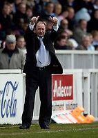 Photo: Jed Wee.<br />Hartlepool United v Bristol City. Coca Cola League 1. 15/04/2006.<br /><br />Bristol City manager Gary Johnson acknowledges the supporters singing his name.