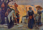 THE WOMEN AT THE WELL. Ruth i. 20 And she said-unto them, Call me not Naomi, call me Mara: for the Almighty hath dealt very bitterly with me. From the book ' The Old Testament : three hundred and ninety-six compositions illustrating the Old Testament ' Part II by J. James Tissot Published by M. de Brunoff in Paris, London and New York in 1904