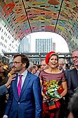 Koningin Maxima opent Markthal Rotterdam
