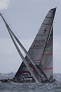 Alinghi take the lead on the first leg of race three and never relinquish it. America's Cup 2003. 18/2/2003 (© Chris Cameron 2003)