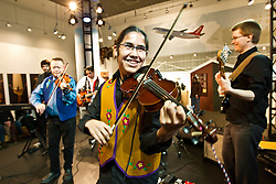 Metis fiddlers entertain at Canada's Northern House