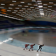 Winter Olympics, Vancouver, 2010.Canadian athletes training at the Speed Skating venue at Richmond Oval in preparation for the Long Track Speed Skating event at the Winter Olympics. 8th February 2010. Photo Tim Clayton