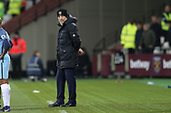 Slaven Bilic, West Ham United manager looking on from the touchline. Premier league match, West Ham Utd v Manchester city at the London Stadium, Queen Elizabeth Olympic Park in London on Wednesday 1st February 2017.<br /> pic by John Patrick Fletcher, Andrew Orchard sports photography.
