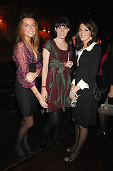 Left to right, MISS ELEANOR CHAPMAN, LADY LAURA CATHCART and MISS GENEVIEVE CHAPMAN at a party to celebrate the publication of the 2007 Tatler Little Black Book held at Tramp, 40 Jermyn Street, London on 7th November 2007.<br />