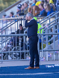 Falkirk's manager Ray McKinnon near the end. Falkirk 0 v 2 Dundee United, Scottish Championship game played 22/9/2018 at The Falkirk Stadium.