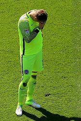 7 May 2017 - EFL Championship Football - Aston Villa v Brighton and Hove Albion - Brighton and Hove Albion keeper David Stockdale looks dejected following his error - Photo: Paul Roberts / Offside