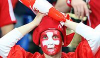 GEPA-1106086029 - BASEL,SCHWEIZ,11.JUN.08 - FUSSBALL - UEFA Europameisterschaft, EURO 2008, Schweiz vs Tuerkei, SUI vs TUR. Bild zeigt einen Fan der Schweiz.<br />Foto: GEPA pictures/ Philipp Schalber