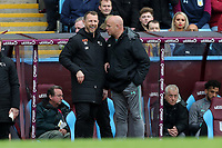 Aston Villa v Derby County - Sky Bet Championship<br /> BIRMINGHAM, ENGLAND - APRIL 28 :  gary Rowett, Derby County manager, smiles as he talks to a member of the Aston Villa coaching staff