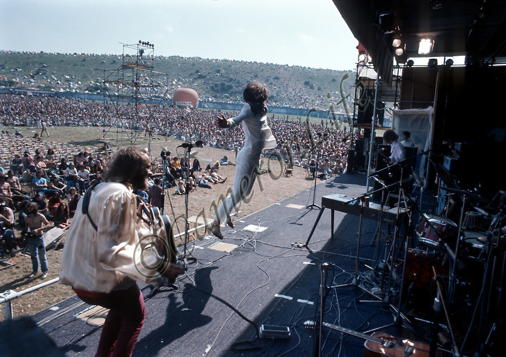 Fairfield Parlour - Isle of Wight Music Festival 1970, by Charles Everest. <br /> <br /> Fairfield Parlour opened the festival officially at around 2 o'clock that afternoon. Threats had already been made at this time, indicating that the first band on stage would be shot at. Lead singer Peter Daltrey responded to this by turning his back on the audience to 'taunt' the would-be assassin. Thankfully it had all been hot air, or there would have been no festival.