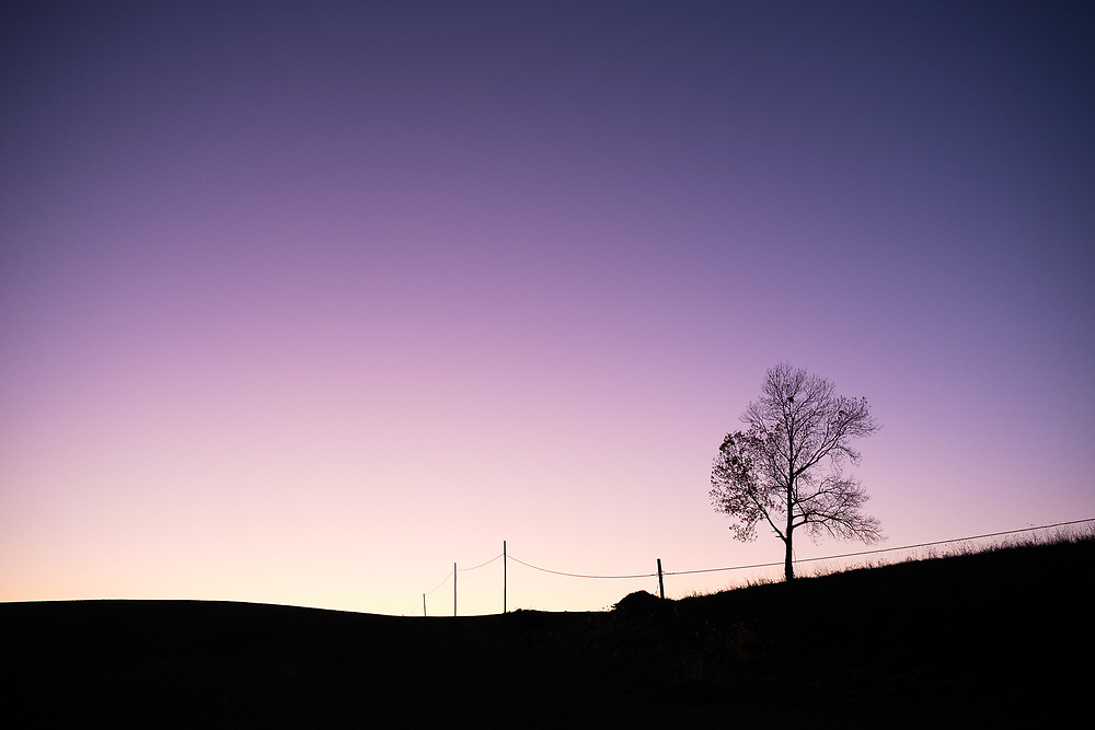 Minimalism. Twilights in Tuscany