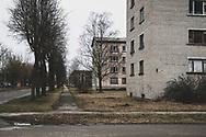 Kiviõli, Estonia - February 22, 2020: An industrial town in Ida-Viru County, Estonia, Kiviõli is best known for oil shale mining.