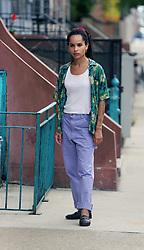 "EXCLUSIVE: Zoe Kravitz , Natasha Lyonne Film ""High Fidelity"" with Lyonne directing the segment. 14 Jul 2019 Pictured: Zoe Kravitz. Photo credit: SteveSands/NewYorkNewswire/MEGA TheMegaAgency.com +1 888 505 6342"