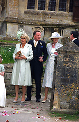 MR & MRS ANDREW PARKER BOWLES and the DUCHESS OF CORNWALL  at the wedding of Laura Parker Bowles to Harry Lopes held at Lacock, Wiltshire on 6th May 2006.<br />