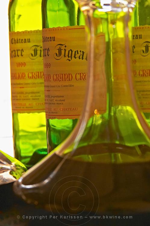 Bottles and carafes decanters with Chateau La Grave Figeac - Chateau La Grave Figeac, Saint Emilion, Bordeaux