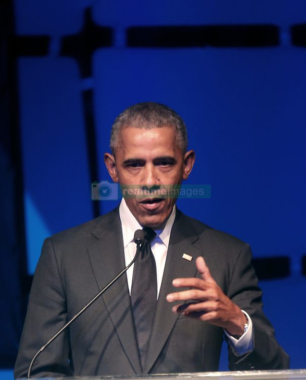 Barack Obama speaks at the Robert Kennedy Human Rights Awards. 12 Dec 2018 Pictured: Barack Obama. Photo credit: SteveSands/NewYorkNewswire/MEGA TheMegaAgency.com +1 888 505 6342