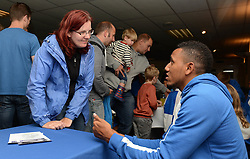 Christian Montano of Bristol Rovers speaks with fans during an open day at the Memorial Stadium - Mandatory by-line: Dougie Allward/JMP - 07966386802 - 26/07/2015 - SPORT - FOOTBALL - Bristol,England - Memorial Stadium - Bristol Rovers Open Day - Bristol Rovers Open Day