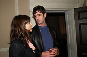 Bella Freud and Rupert Everett, Book launch of Truth or Dare,  edited by Justine Picardie. House of St. Barnabus. Sales of the book at the launch went towards Breast  Cancer  Care. Greek St. London. 30 September 2004. SUPPLIED FOR ONE-TIME USE ONLY-DO NOT ARCHIVE. © Copyright Photograph by Dafydd Jones 66 Stockwell Park Rd. London SW9 0DA Tel 020 7733 0108 www.dafjones.com