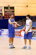 Drake Diener Bruno Fitipaldi<br /> Betaland Capo D'Orlando allenamento precampionato<br /> Lega Basket Serie A 2016/2017 <br /> Capo D'Orlando 02/09/2016<br /> Foto Ciamillo-Castoria