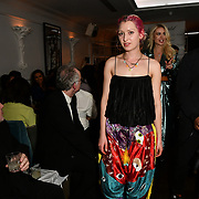 Victoria Patterson of Trippy Hippy Clothing attend Nina Naustdal catwalk show SS19/20 collection by The London School of Beauty & Make-up at Bagatelle on 26 Feb 2019, London, UK.