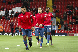 October 24, 2018 - Liverpool, England, United Kingdom - Crvena Zvezda team warm up before the Uefa Champions League Group Stage football match n.3 LIVERPOOL - CRVENA ZVEZDA on 24/10/2018 at the Anfield Road in Liverpool, England. (Credit Image: © Matteo Bottanelli/NurPhoto via ZUMA Press)