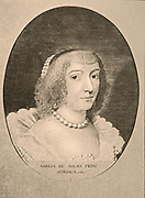 Amalia Van Solms, daughter of John Albert, Count of Solms, born 1602, married 31st March 1625. With Prince Frederick Henry, she was one of the cleverest women of her time.  They founded The Orange Room, today's Huis Ten Bosch where the triumphs of her husband were glorified (Paintings by Jordaens), and had, as a watchful guardian, a large share of the upbringing of her grandson, Prince William III.  She died in 1675.