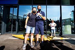Benjamin Savsek, Olympic gold medalist and Nina Jelenc during his arrival from Tokyo 2020 on July 28, 2021 in Airport Joze Pucnik, Brnik, Ljubljana, Slovenia. Photo by Matic Klansek Velej / Sportida