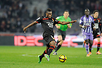 FOOTBALL - FRENCH CHAMPIONSHIP 2010/2011 - L1 - TOULOUSE FC v STADE RENNAIS - 20/02/2011 - PHOTO JEAN MARIE HERVIO / DPPI - ALEXANDER TETTEY (REN)