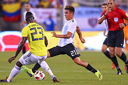 September 11, 2018 - East Rutherford, NJ, U.S. - EAST RUTHERFORD, NJ - SEPTEMBER 11:  Argentina forward Paulo Dybala (21) during the second half of the International Friendly Soccer game between Argentina and Colombia on September 11, 2018 at MetLife Stadium in East Rutherford, NJ.   (Photo by Rich Graessle/Icon Sportswire) (Credit Image: © Rich Graessle/Icon SMI via ZUMA Press)