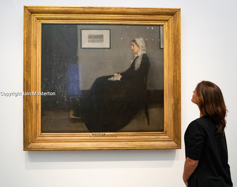 Arrangement in Grey and Black (Whistler's Mother)  by James Abbott Mcneill Whistler