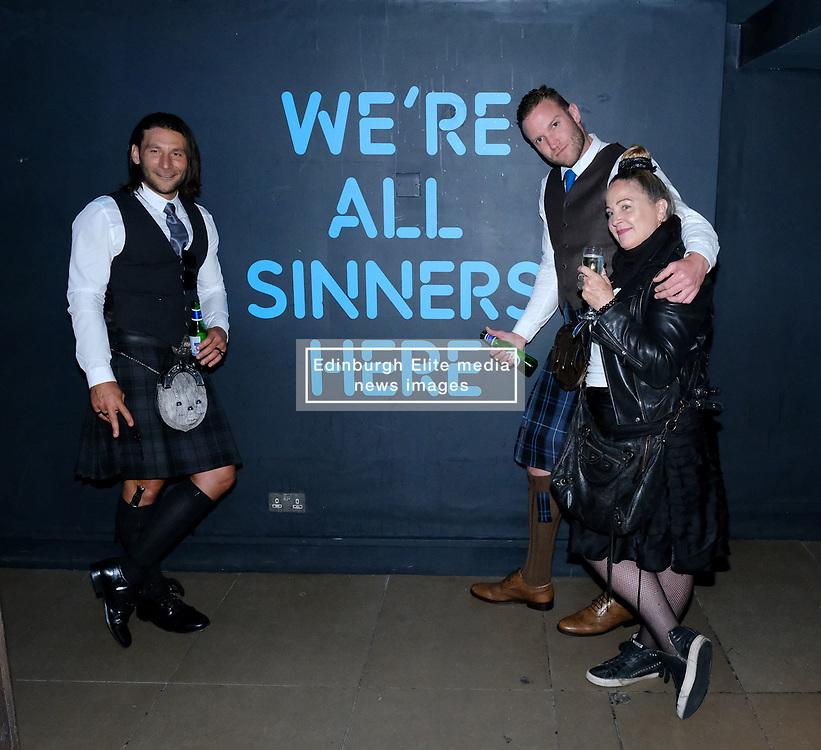 Edinburgh International Film Festival 2019<br /> <br /> Robert The Bruce (World Premiere) after[arty<br /> <br /> Pictured: Zach Mcgowan, Diarmaid Murtagh and Kim Barnard (producer)<br /> <br /> Alex Todd   Edinburgh Elite media