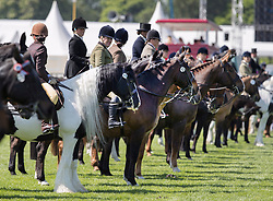 © Licensed to London News Pictures. 10/05/2017. Windsor, UK. Competitors take part in the Senior Horse/Pony - ridden category on the first day of the Royal Windsor Horse Show. The five day equestrian event takes place in the grounds of Windsor Castle. Photo credit: Peter Macdiarmid/LNP