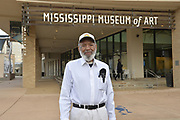 "11/21/19 Jackson,MS. James Meredith  leads a conversation at the Mississippi Museum of Art on the U.S. Constitution, citizenship and art, focused on artist Mildred Wolfe's ""Four Freedoms"". Meredith said he has always though of himself as an artist and used the United States Constitution to get him into Ole Miss. Joining Meredith in the conversation was Professor Hilliard Lackey, left and Lt.Col. Andy Thaggard. Photo ©Suzi Altman"