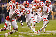 Ameer Abdullah scored a career-high four touchdowns to lead Nebraska 38-17 win at Ryan Field on Oct. 18, 2014. © Aaron Babcock