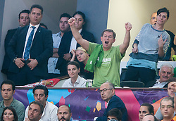 Miroslav Cerar, Slovenian Prime Minister celebrates during the Final basketball match between National Teams  Slovenia and Serbia at Day 18 of the FIBA EuroBasket 2017 at Sinan Erdem Dome in Istanbul, Turkey on September 17, 2017. Photo by Vid Ponikvar / Sportida