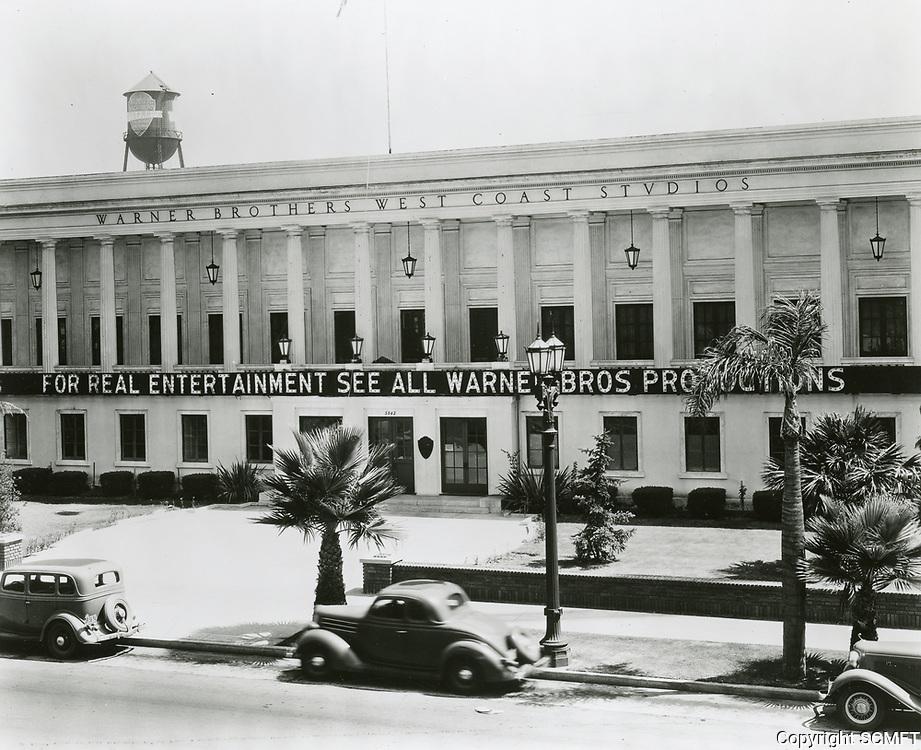 1936 Warner Bros. studio on Sunset Blvd.