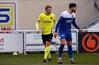 Sam Dalby. Eastleigh FC 1-0 Stockport County FC. Vanarama National League. Silverlake Stadium. 20.02.21
